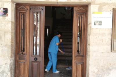 Limpieza museos de las villas de Amaya