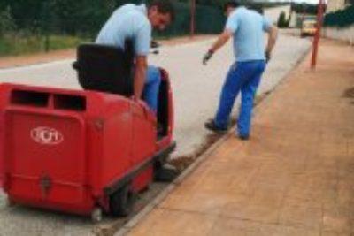 Trabajos de limpieza exteriores